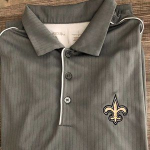 NFL NEW ORLEANS SAINTS Polo Golf Shirt - WHO DAT!